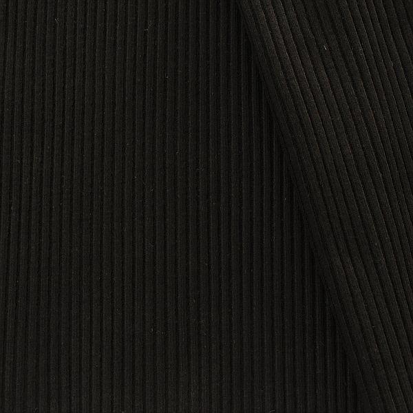 Baumwoll Bündchenstoff Grobripp Schwarz