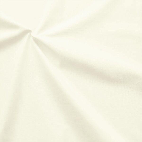 100% Baumwolle Inlett Einschütte sanforisiert Creme-Weiss