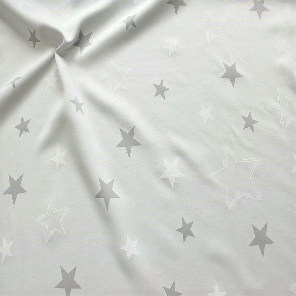 Verdunkelungsstoff Vorhangstoff Black Out Sterne Mix Hell-Grau