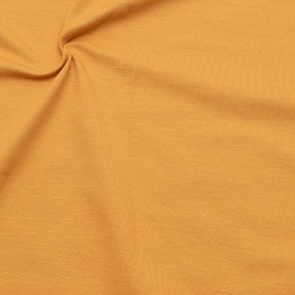 Organic Baumwoll Stretch Jersey Farbe Curry-Gelb
