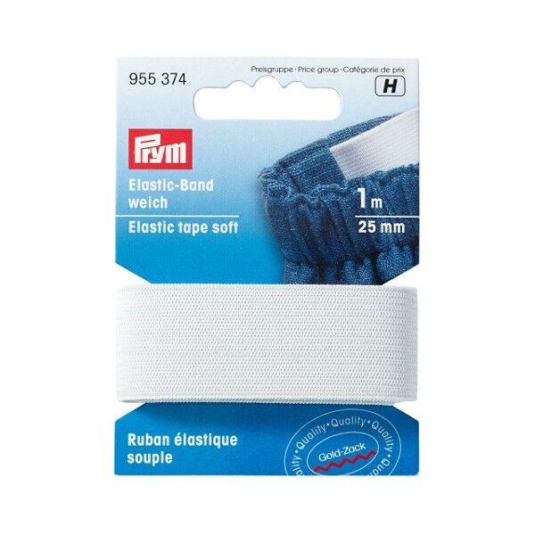 Prym 1m Elastic-Band weich 25mm breit weiß