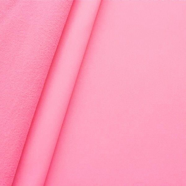Softshell Fleece Stoff Farbe Rosa