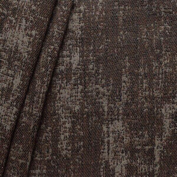 Polster-/ Möbelstoff Artikel Rodeo Antik-Optik Farbe Braun-Schwarz