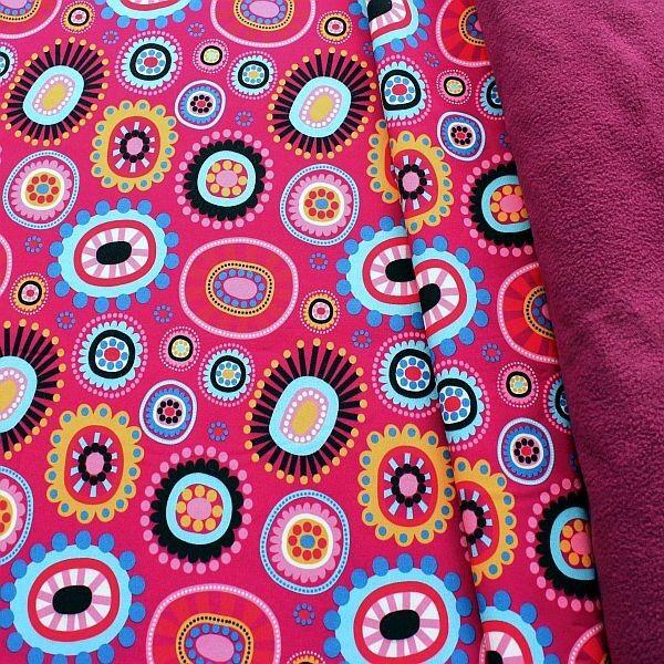 Softshell Fleece Stoff Fantasy Mandalas Fuchsia