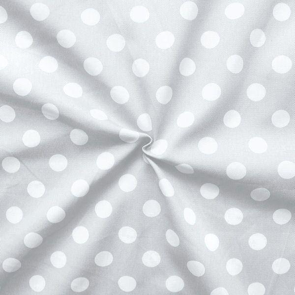 "100% Baumwolle Köper ""Fashion Dots"" Farbe Hell-Grau"