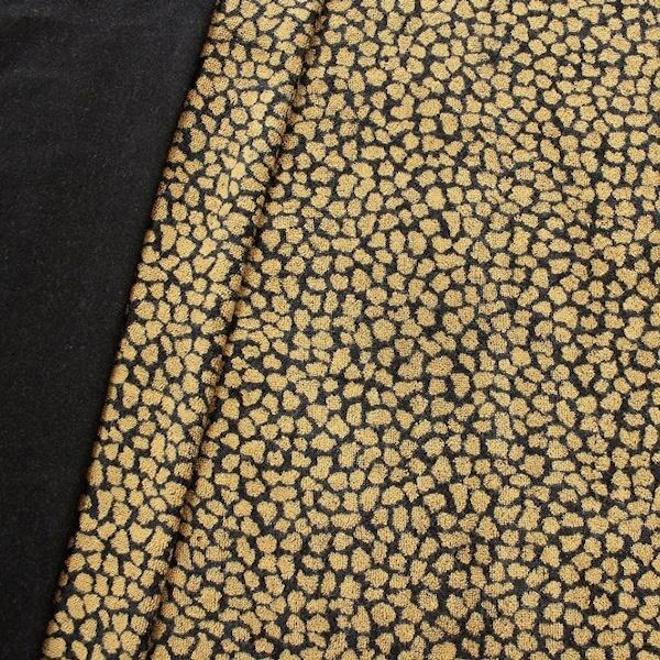 Sweatshirt Baumwollstoff Animal Print Schwarz-Gelb