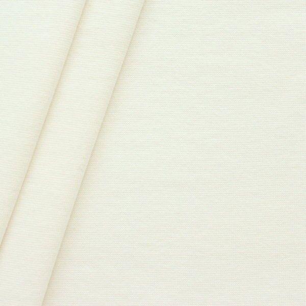 """Baumwoll Bündchenstoff """"glatt"""" Farbe Creme-Weiss"""