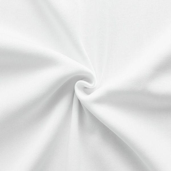 Weißer Sweatshirt-Baumwollstoff