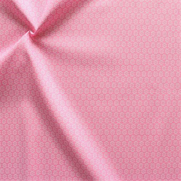 Baumwollstoff Sternblüten Rosa