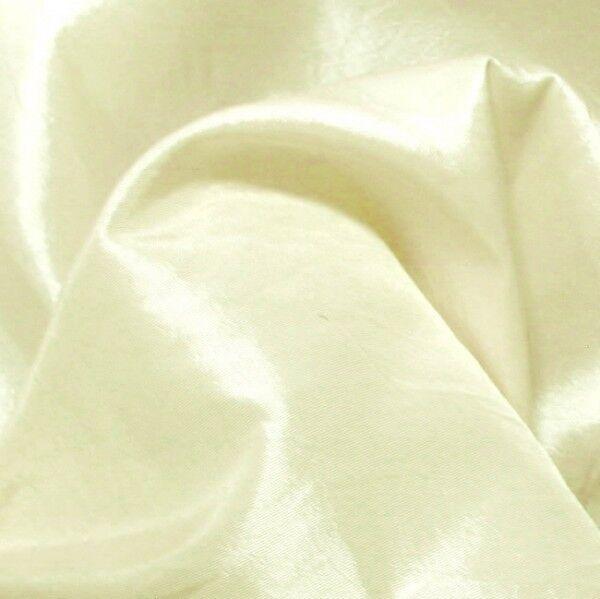 Kleider / Deko Taft Farbe Creme-Weiss changierend