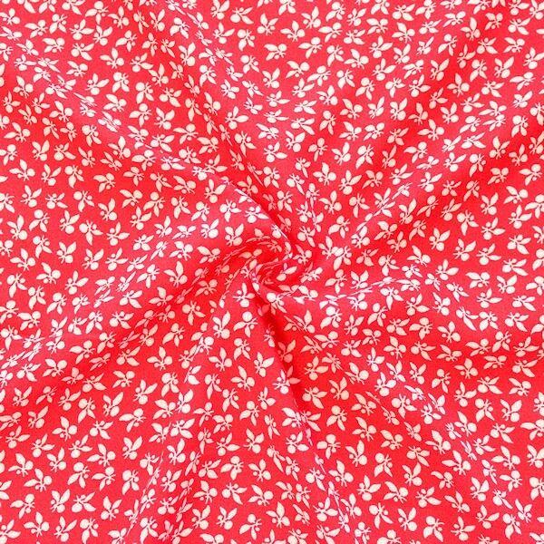 Viskose Javanaise Fashion Print Floral Rot