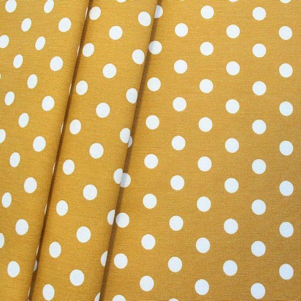 Dekostoff Punkte groß Ocker-Gelb