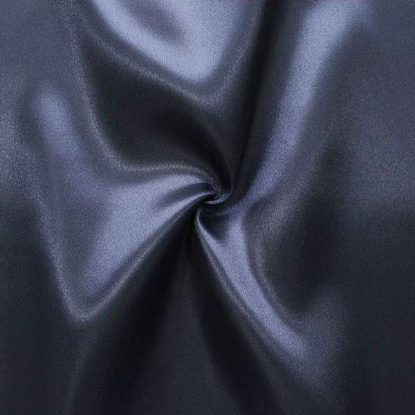 Satin Stoff Nacht-Blau
