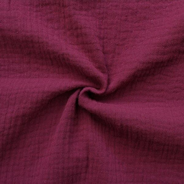 100% Baumwolle Musselin Double Gauze Bordeaux