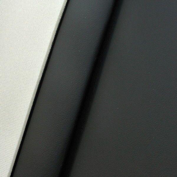Polster Kunstleder mit Schaumrücken 3mm Farbe Titan-Schwarz