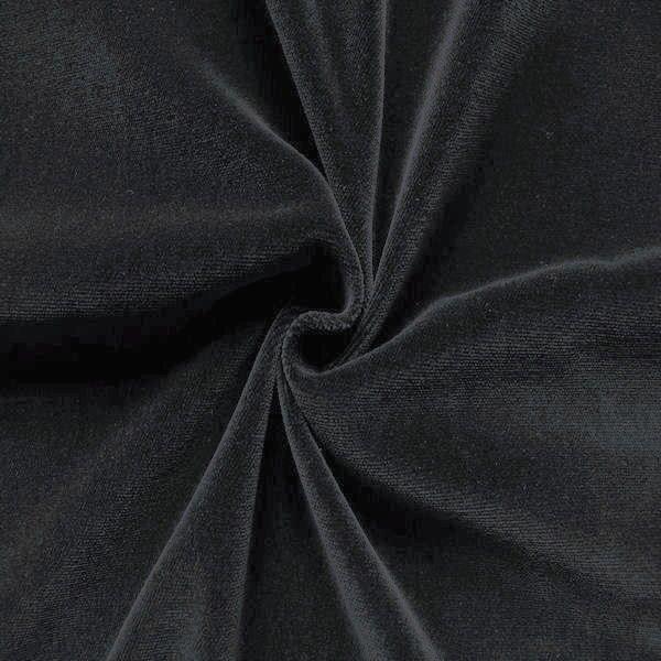 Baumwoll Bekleidungs - Deko Samt Dunkel-Grau