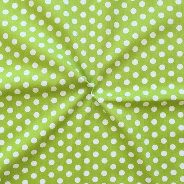 Baumwollstoff Tupfen Lind-Grün