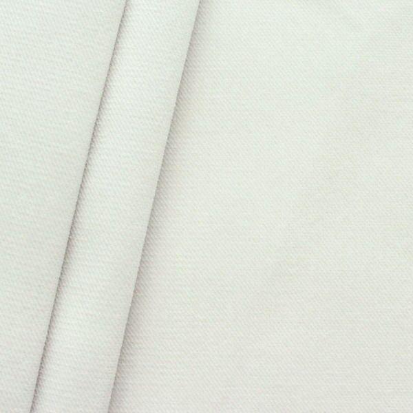 Polster- Möbelstoff Artikel New York Samt-Optik Farbe Perl-Weiss