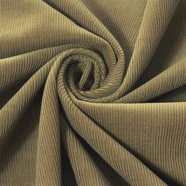 Baumwolle Feincord Babycord Khaki-Grau