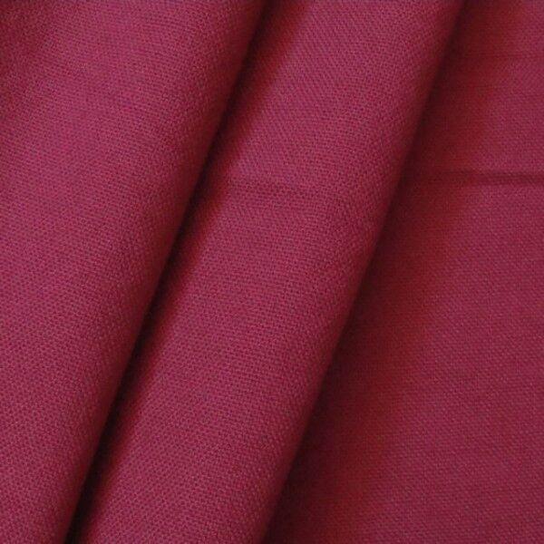 100% Baumwolle Canvas Farbe Weinrot
