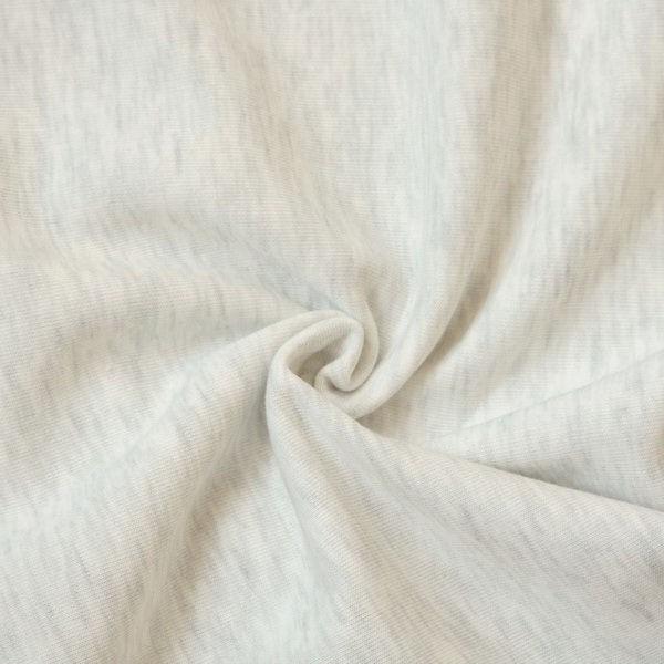 Sweatshirt Baumwollstoff Melange Ecru