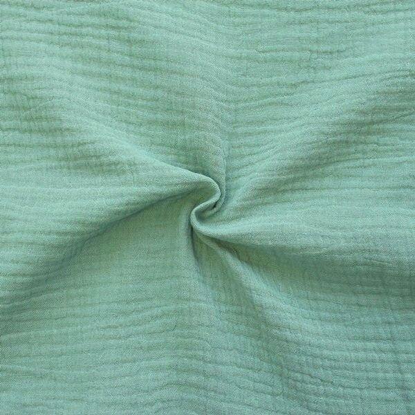 100% Baumwolle Musselin Double Gauze Farbe Mint