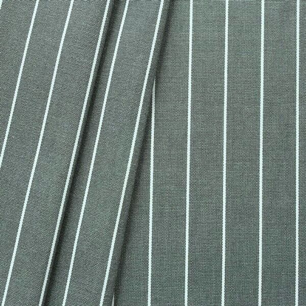 """Deko / Outdoorstoff """"Streifen fein"""" Farbe Dunkel-Grau melange"""