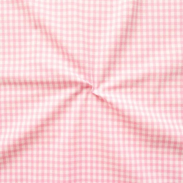 """100% Baumwollstoff """"Karos mittel"""" Farbe Rosa-Weiss"""