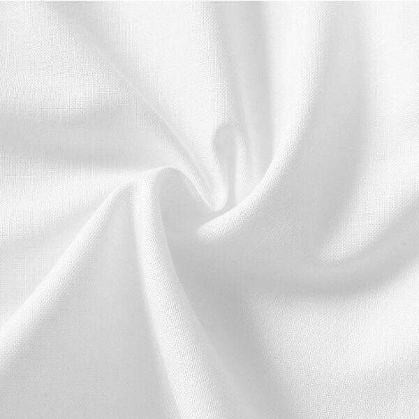 100% Baumwolle Fahnentuch Farbe Weiss