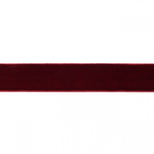 Samtband Breite 25mm Farbe Bordeaux