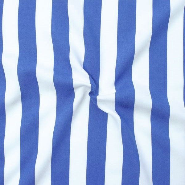 Viskose Javanaise Blue Stripes Blau Weiss