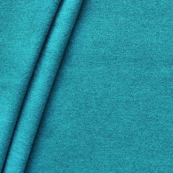 Polster-/ Möbelstoff Artikel Durban Schurwoll-Optik Farbe Petrol
