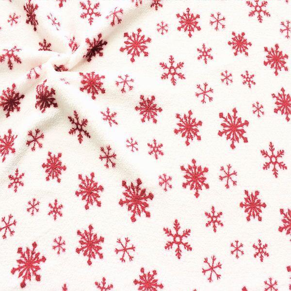 Kuschelweicher Fleece mit Schneeflocken