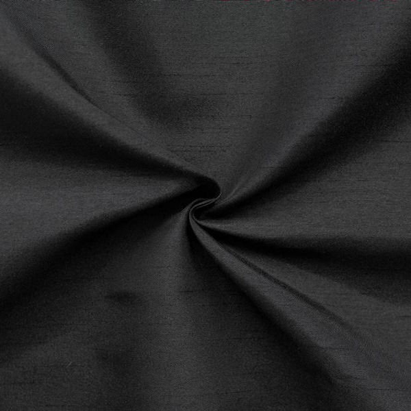 Kleider Deko Taft Dupionseide Optik Schwarz