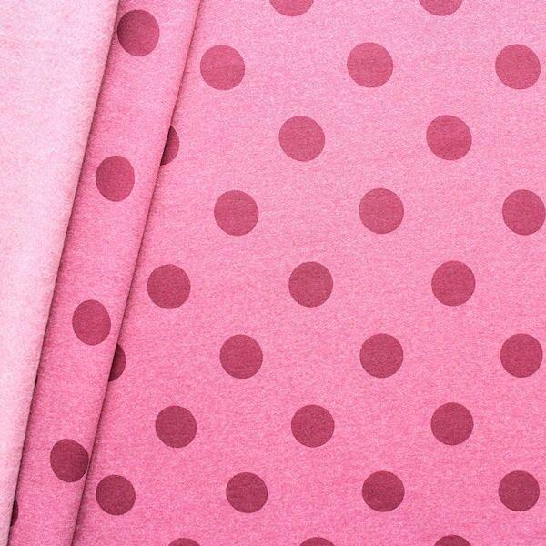 """Sweatshirt Baumwollstoff Artikel Jogging """"Punkte groß 2"""" Farbe Rosé-Violett melange"""