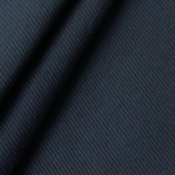 Dunkelblauer Baumwoll-Bündchenstoff