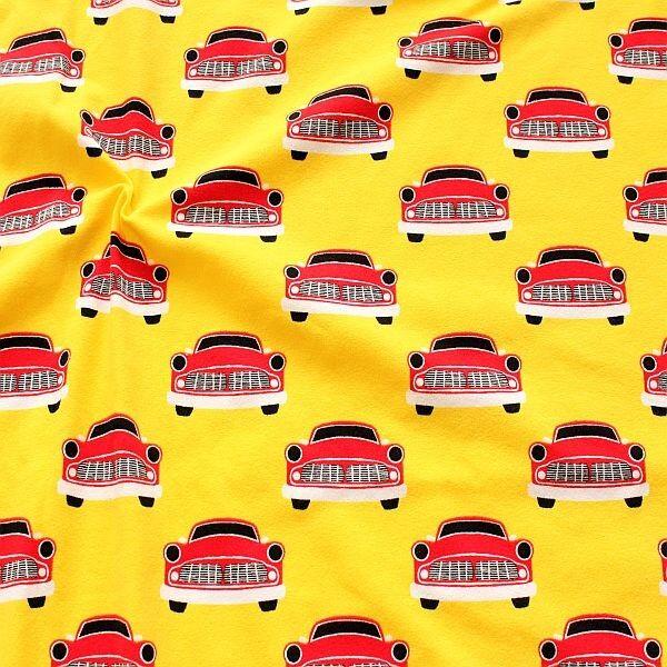 Baumwoll Stretch Jersey Straßenkreuzer Gelb