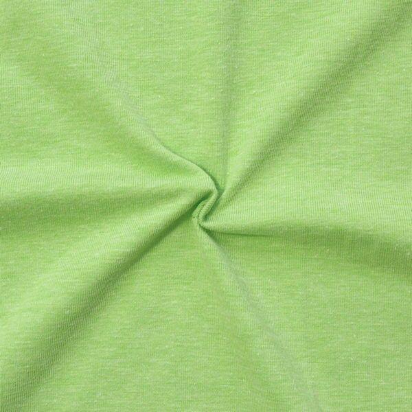 Baumwoll Stretch Jersey Hell-Grün melange