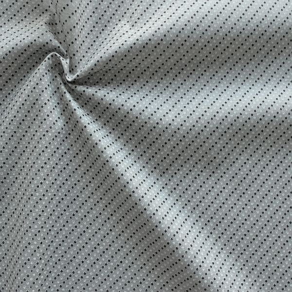 Baumwollstoff Popeline Birdseye Mini Grau