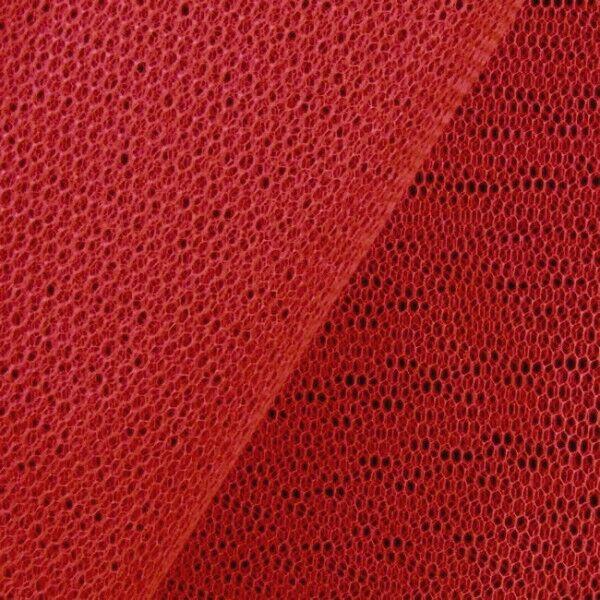 Tüll Stoff Farbe Karmin-Rot