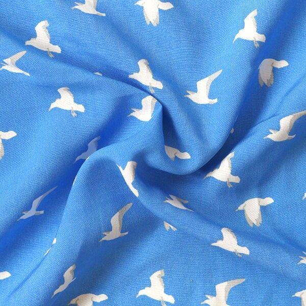 Viskose Javanaise Möwen Blau