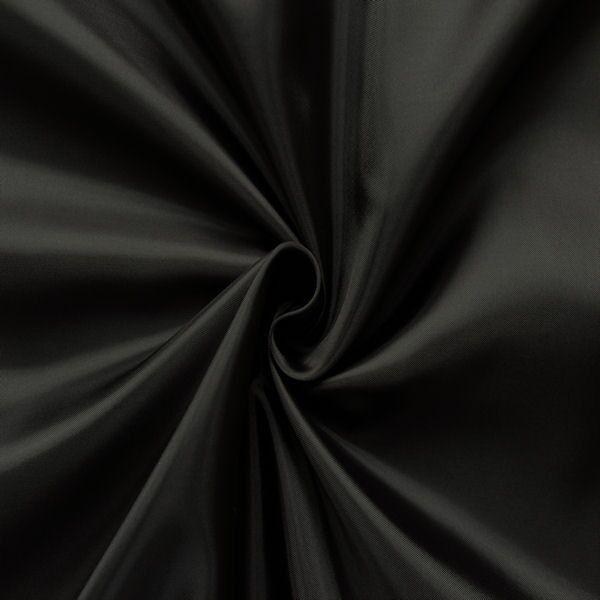 Polyester Taft Futterstoff Farbe Schwarz