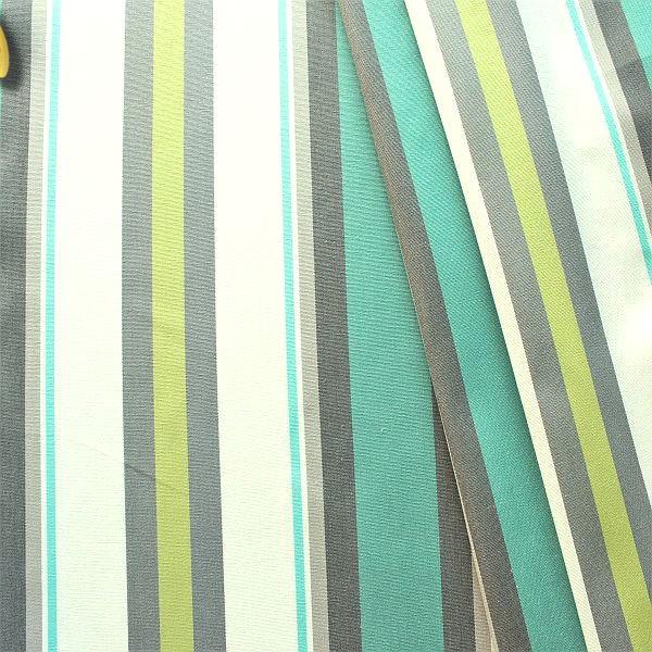 Dekostoff Outdoorstoff Streifen Mix Türkis-Grau