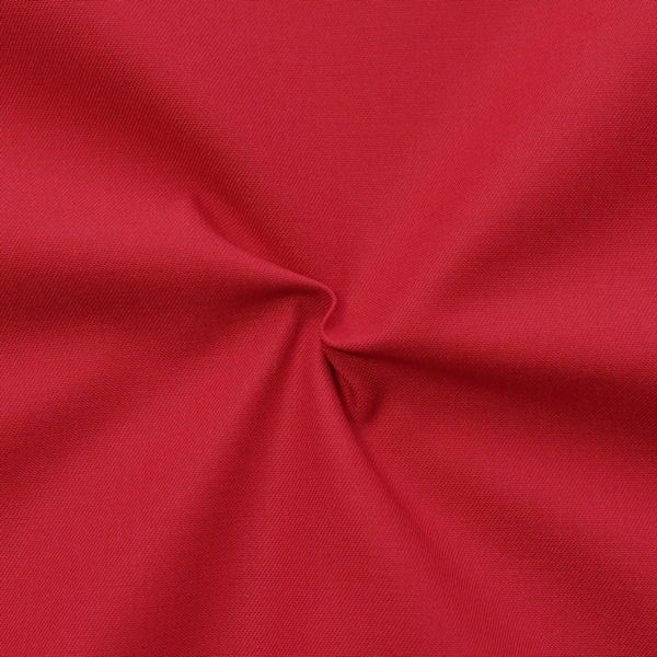 Polyester-Baumwoll Köper Basic Workwear Rot