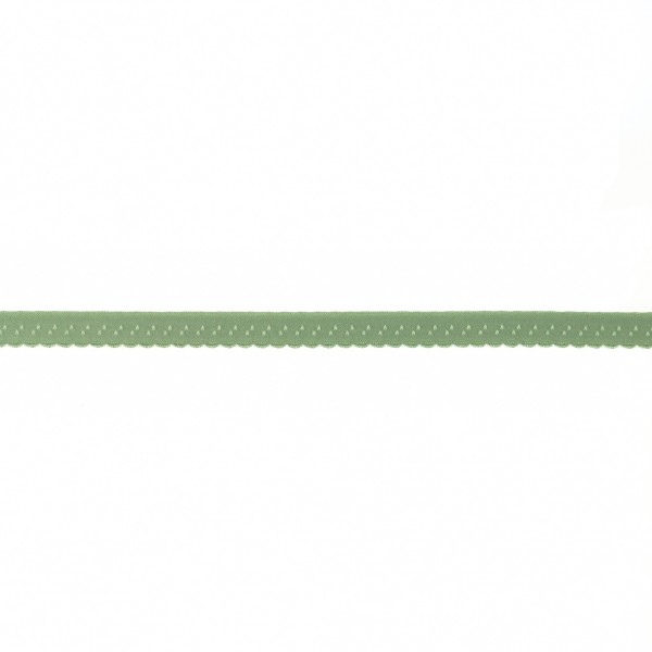 Elastisches Schrägband 12mm Bogenkante Oliv-Grün