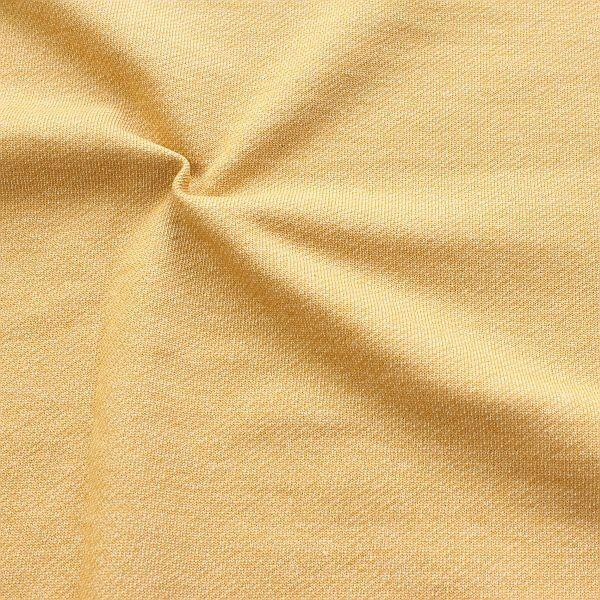 Sweatshirt Baumwollstoff French Terry Melange Gelb