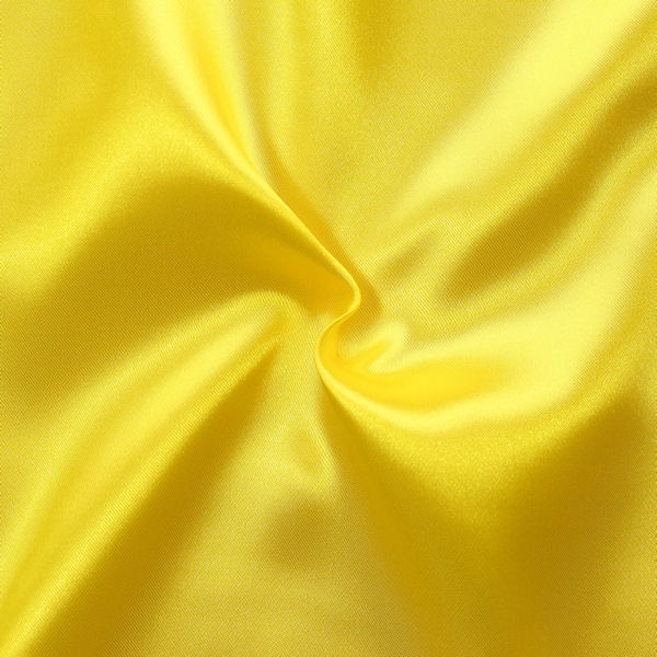 Satin Stoff Sonnen-Gelb