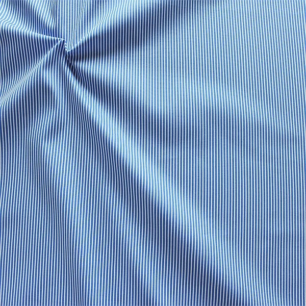 Baumwollstoff Längsstreifen fein Royal-Blau Weiss