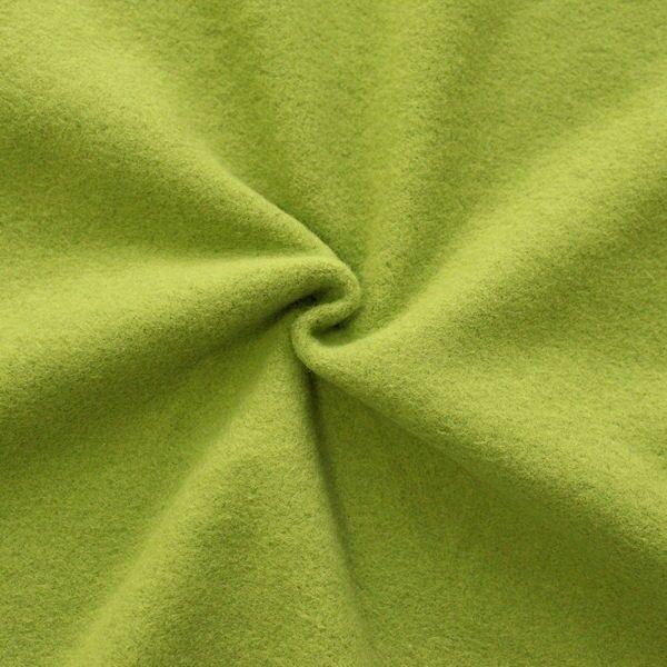 Baumwolle Fleece Lind-Grün