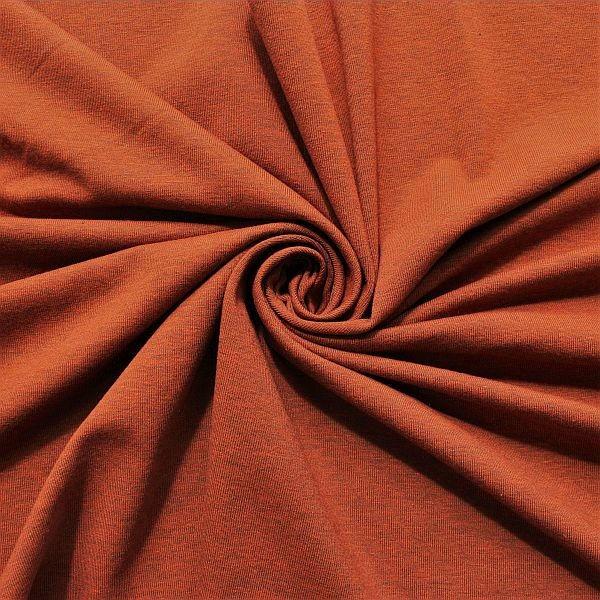 Baumwoll Stretch Jersey Terrakotta melange